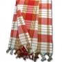 Традиционное полотенце Пештемаль - красное