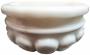 Полукурна мраморная белая. Тип П-4